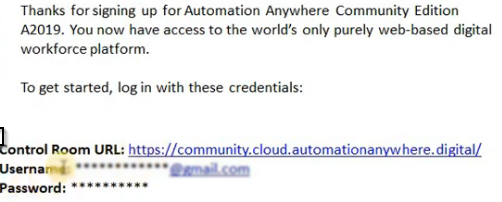 Automation Anywhere Community edition
