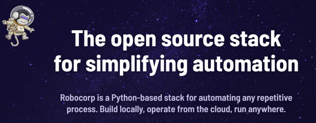 Robocorp - Open source automation stack